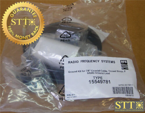 """15549781 Rfs Ground Kit For 7/8"""" Coax Cable 5 Ft New"""