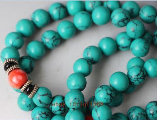Tibet tibetan beeswax buddhist buddha prayer bead mala necklace NR