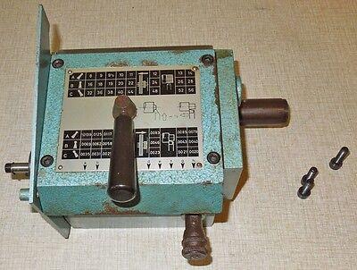 Emco Maximat V10-p Lathe Working Power Feed Threading Gear Box 0714e