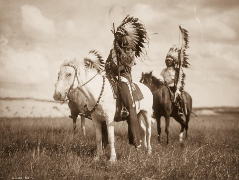 Native Americans On Horseback Indians Old West Vintage  8x10 Photo Print