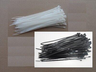 colliers de serrage plastique incolore ou noir 5 longueurs de 120mm à 368 mm