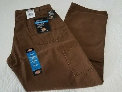 NEW DICKIES BROWN DOUBLE KNEE CARPENTER DUCK JEAN PANTS MANY SIZES AVAILABLE