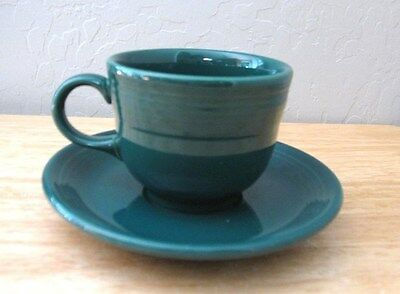 FIESTA EVERGREEN CUP AND SAUCER Evergreen Cup