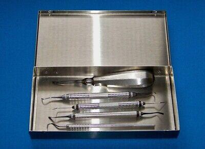 5 Hu-friedy Miltex Patterson Profession Dental Instruments Stainless Steel Box