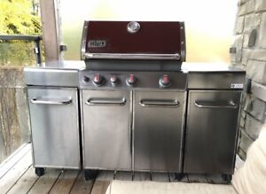Weber barbecue stainless steel natural gas