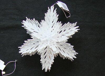 -Schneeflocke Form Weihnachtsbaum Stehend Tisch Dekoration (Weiße Schneeflocke Dekorationen)