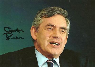 Politician Gordon Brown Autograph Photo PRINT 7x5 Ex-Prime Minister