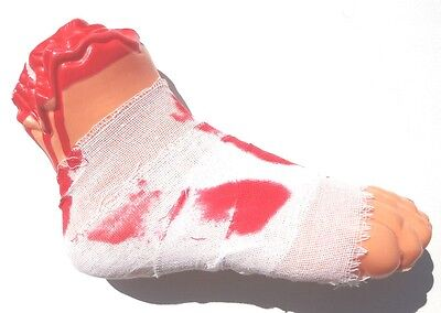 Halloween Props Decoration Creepy Big FOOT WRAPPED IN GAUZE April Fool's Day Toy - Big Halloween Props