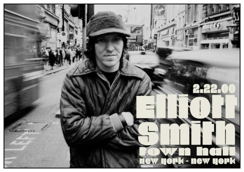 Elliott Smith - POSTER live concert NEW YORK CITY 2/22/00 Town Hall FIGURE 8