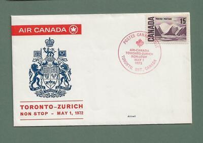 CANADA - 1972 AIR CANADA FIRST FLIGHT to ZURICH - N818