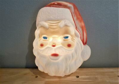 "VINTAGE 18"" EMPIRE PLASTICS BLOW MOLD LIGHT UP SANTA CLAUS FACE CHRISTMAS DECOR"