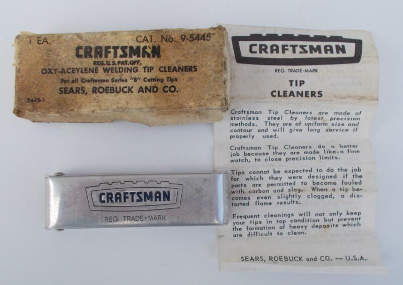 Craftsman Oxy-Aceylene Welding Tip Cleaners #9-5445 Original Box & Instructions