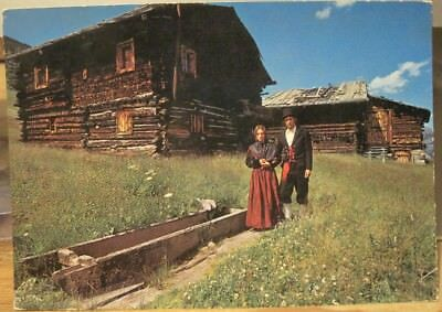Italian Alps Postcard LIVIGNO Costumes Historic Homes Folk Peasants LOMBARDIA](Italian Peasant Costume)