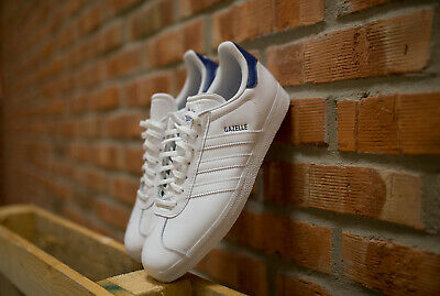 ADIDAS GAZELLE FU9487 MEN'S GENUINLY ORIGINAL WHITE LEATHER SNEAKERS