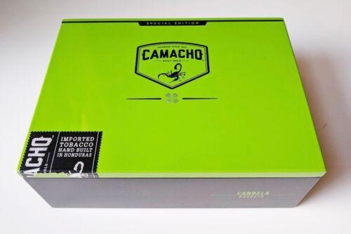 "Camacho Candela Robusto Green High Gloss Empty Wooden Cigar Box 8"" x 6"" x 3"" 📦"