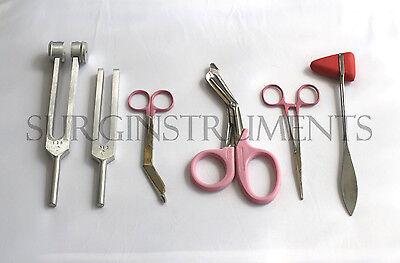 6 Piece Pink Medical Kit Emt Nursing Surgical Ems Student Paramedic Holiday Gift