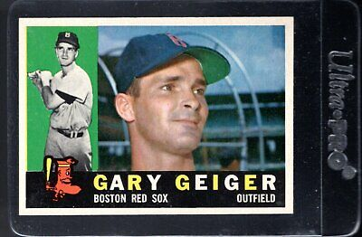 1960 TOPPS #184 GARY GEIGER Boston Red Sox sharp/clean/CENTERED NM to NM/MT  Boston Red Sox Center
