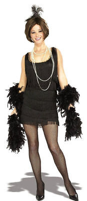 1920s Black Flapper Costume Great Gatsby Women Small Medium Large Fringe Dress - Great Womens Costumes