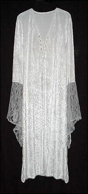 Sexy White Velvet Lace-up Dress Angel Fairy Like Costume PLUS SIZE SM to 9x TALL