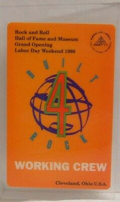 ROCK AND ROLL HALL OF FAME GRAND OPENING - LAMINATE BACKSTAGE PASS **LAST ONE**