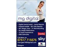 Digital TV aerial installations/repairs. Satellite dish installations/repairs engineer