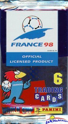 1998 Panini World Cup Soccer HOBBY Factory Sealed Foil PACK-6 Cards! VERY Rare!