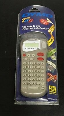 Dymo Letra Tag Electronic Label Maker W Tape Cassette Letratag Gray New Nip