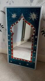 Hand painted moroccan inspired mirror