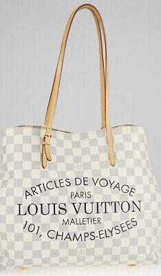 Louis Vuitton Cabas PM Damier Azur Shoulder Bag White