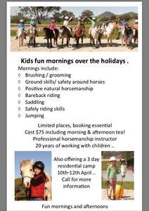 Kids fun mornings / 3 day horsemanship camp.. horses supplied!!! Cooroibah Noosa Area Preview