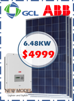 GCL with ABB inverter – 6.48kW solar system FULLY INSTALLED
