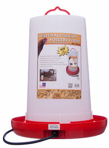 Heated Chicken Waterer Poultry Fountain, 3 Gallon NEW