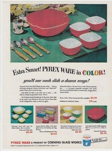 REPRINT-AD-of-Vintage-50s-PYREX-Mixing-BOWLS-Primary-4-Color-Nesting-Set-Prices
