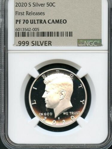 2020 S Silver Kennedy Half Dollar First Releases NGC PF70 Ultra Cameo Metallic