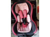 Cosatto 9-18kg car seat grey and pink with flowers