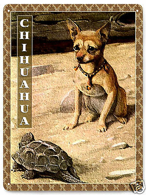 Chihuahua Metal Sign funny dog plaque / great gift vintage style wall decor 264