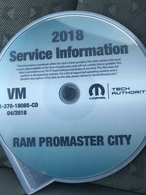 2018 DODGE RAM PROMASTER CITY Service Shop Repair Workshop Manual CD Factory New