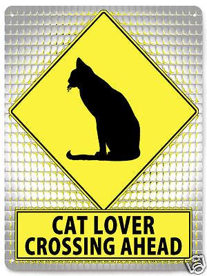 CAT funny METAL street sign PET kitty lover kids room gift decor wall art 120