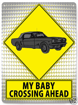 FORD Mustang Car METAL STREET SIGN Classic hot rod garage funny retro decor 486