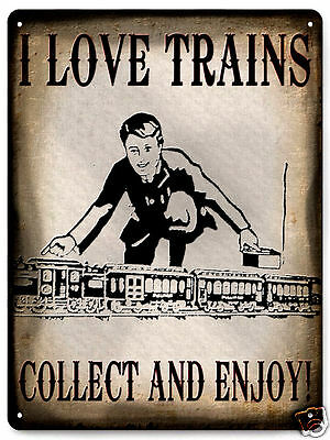 TRAIN locomotive METAL SIGN collectible railroad vintage style kids decor 460](Train Decor)