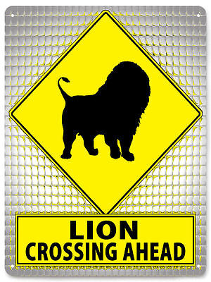 LION METAL STREET SIGN funny nature animals educational KIDS room wall decor 427
