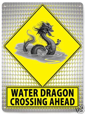 WATER DRAGON asian street SIGN metal great gift wall decor art 531