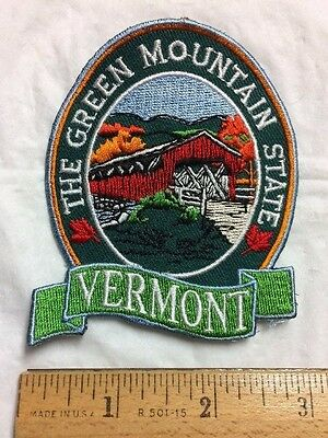Vermont The Green Mountain State VT Travel Souvenir Patch