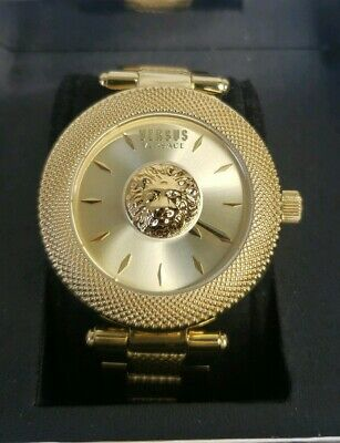 Versus Versace Womens Brick Lane Watch VSP213318 NEW Gold Color