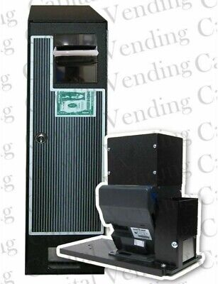 Compact Changer Hopper Coin Machine W New Ict L70 Bill Acceptor Accepts 1-20