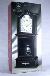 Wallace Quartz Pendulum Mantel Table Clock Mahogany Wood Finish