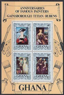 Ghana 1977 ** Bl.72 Gemälde Paintings Rubens Tizian Gainsborough [sr2225]