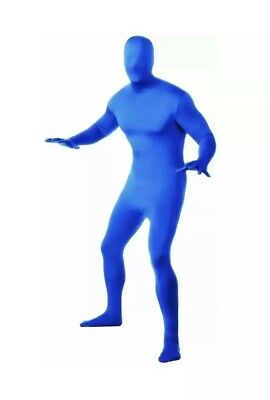 14+ Blue invisible man 2nd second skin suit costume NEW Halloween Costume Outfit