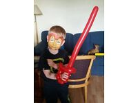 Face painting and balloon modelling