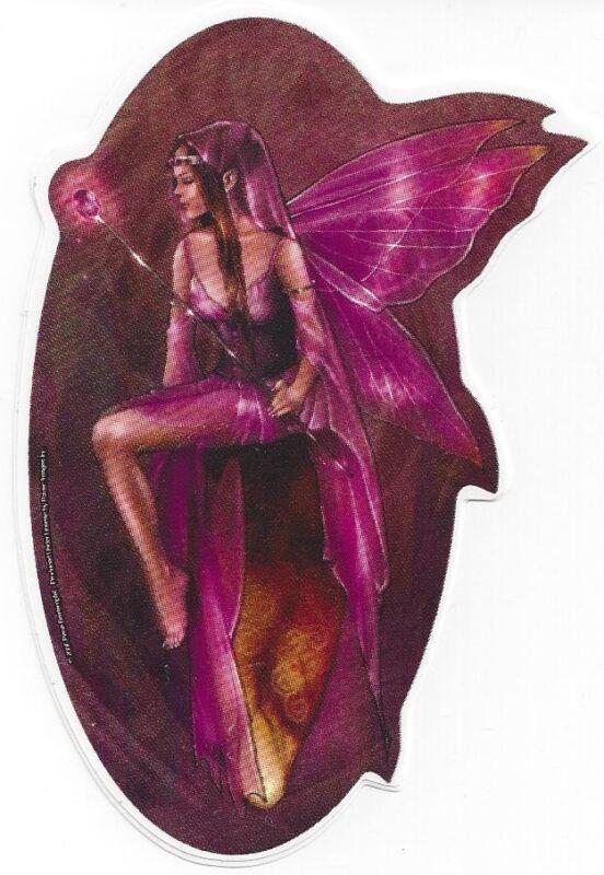 AMETHYST FAERY Fairy Sticker Car Decal Renee Biertempfel purple faerie